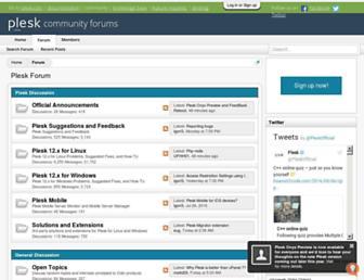 talk.plesk.com screenshot