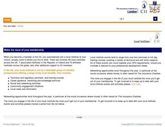 localinstitutes.cii.co.uk screenshot