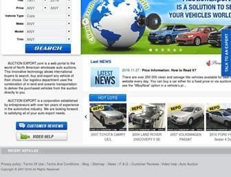 m.auctionexport.com screenshot