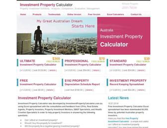investmentpropertycalculator.com.au screenshot
