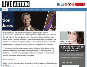 liveaction.org screenshot