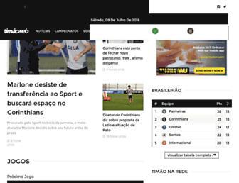 Main page screenshot of timaoweb.com.br