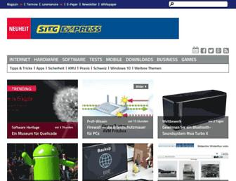 Main page screenshot of onlinepc.ch