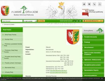 Main page screenshot of bip.powiat-otwocki.pl