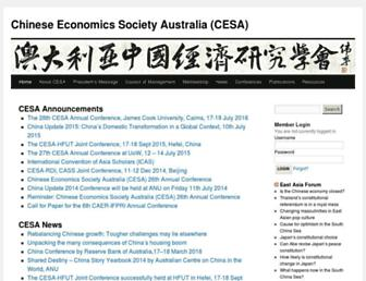 Main page screenshot of ces-aus.org