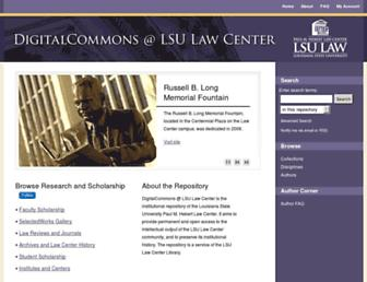 digitalcommons.law.lsu.edu screenshot
