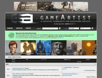 Main page screenshot of game-artist.net