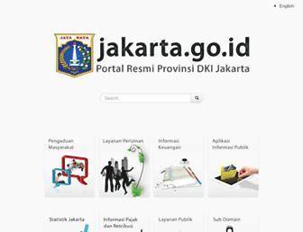 Main page screenshot of jakarta.go.id