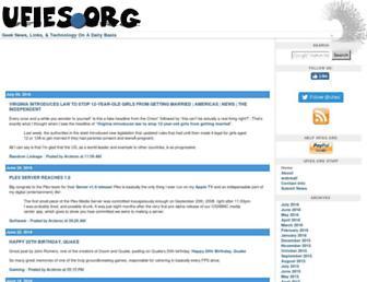 Main page screenshot of ufies.org