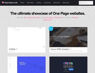 onepagelove.com screenshot
