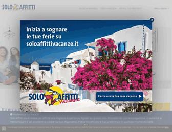 Main page screenshot of soloaffitti.it