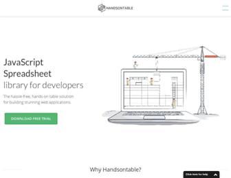 handsontable.com screenshot
