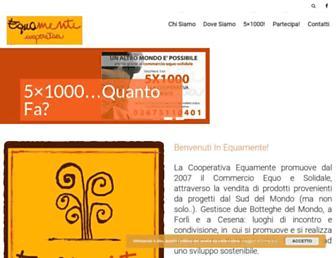 Main page screenshot of equamente.info