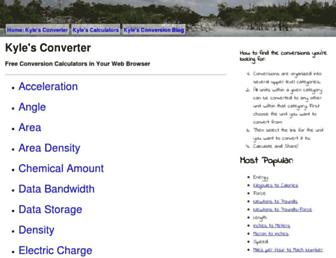 kylesconverter.com screenshot