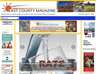 Main page screenshot of eastcountymagazine.org
