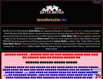 sattamatkasite.net screenshot