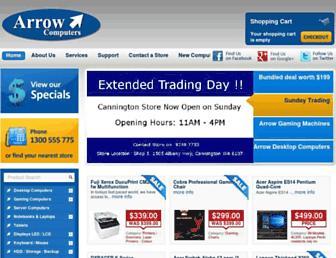 arrowcomputers.com.au screenshot
