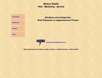 Main page screenshot of web-marketing-service.de
