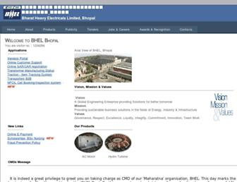 bhelbpl.co.in screenshot