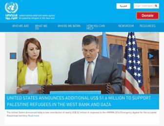 Thumbshot of Unrwa.org