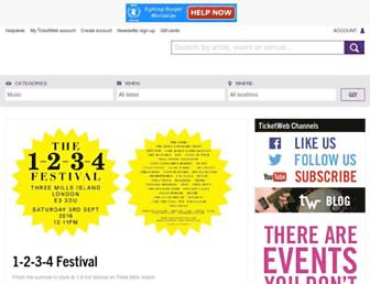 Thumbshot of Ticketweb.co.uk