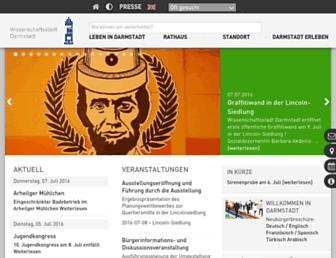 Main page screenshot of darmstadt.de