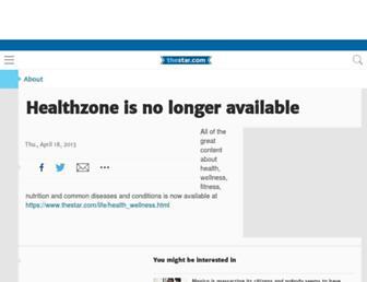 Main page screenshot of healthzone.ca