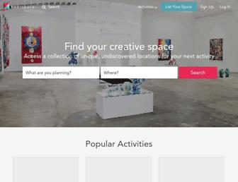 peerspace.com screenshot