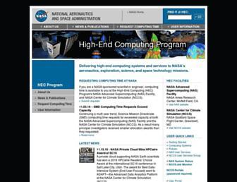 hec.nasa.gov screenshot