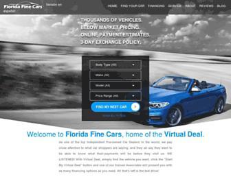 floridafinecars.com screenshot