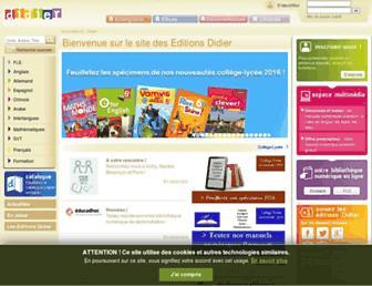 Thumbshot of Editionsdidier.com