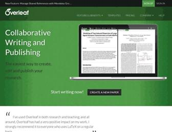 overleaf.com screenshot