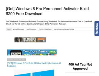 get-windows-8-permanent-activator.blogspot.com screenshot
