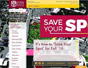 scc.losrios.edu screenshot