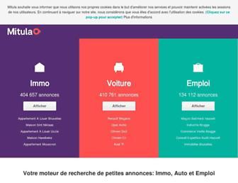 Main page screenshot of mitula.be