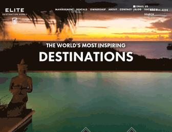 elitedestinationhomes.com screenshot
