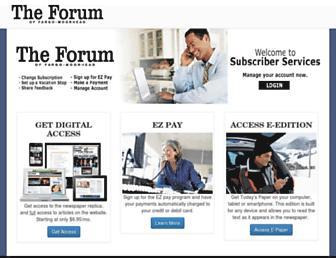 forumnewspaper.com screenshot