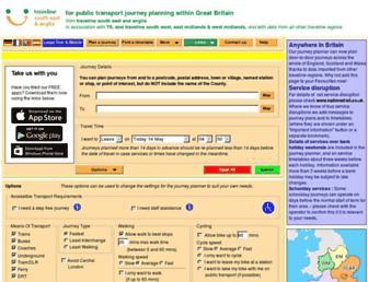 travelineeastanglia.org.uk screenshot