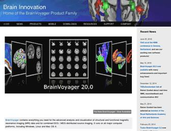 brainvoyager.com screenshot