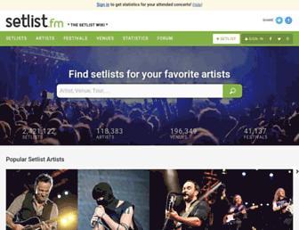 setlist.fm screenshot