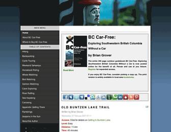 Main page screenshot of car-free.ca
