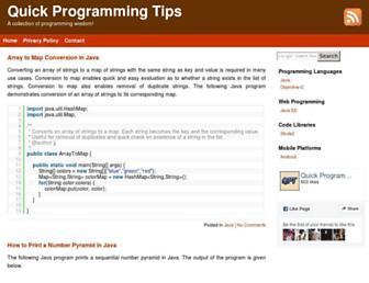 quickprogrammingtips.com screenshot