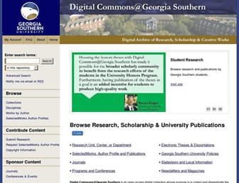 digitalcommons.georgiasouthern.edu screenshot