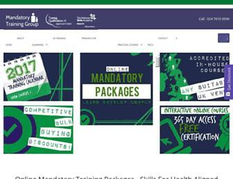 mandatorytraining.co.uk screenshot