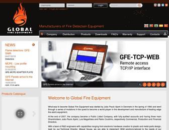 Main page screenshot of globalfire.pt