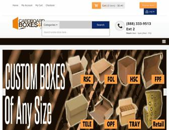 cardboardboxes4u.com screenshot