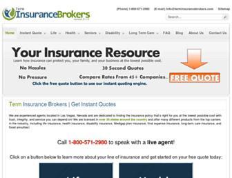 terminsurancebrokers.com screenshot