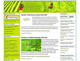Main page screenshot of grassclippings.co.uk