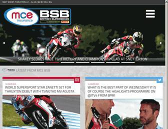 britishsuperbike.com screenshot