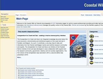 coastalwiki.org screenshot